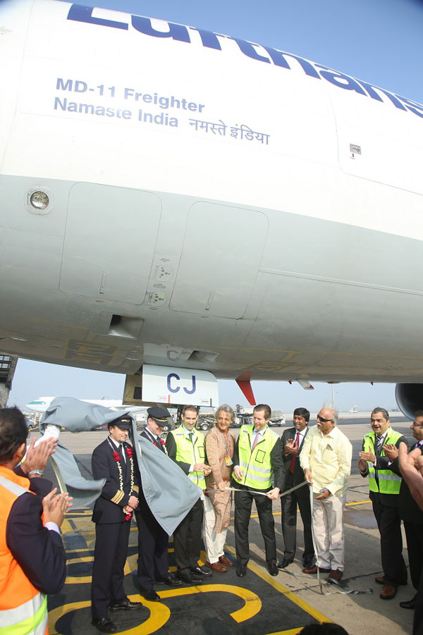 MD-11 freighter becomes flying ambassador with 'Namaste