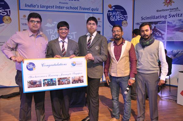 Zonal Winner Akshat C and Devansh K from Cambridge Court High School rec...