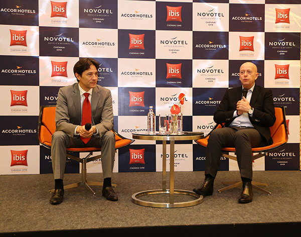 Daniel Chao, General Manager Novotel and ibis Chennai OMR and    Jean-Michel Cassé, Chief Operating Officer, India & South Asia, AccorHotels.