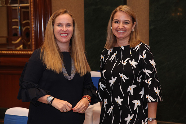 (L-R) Linda Lewis ( VP, Global Sales Middle East and Asia Pacific) and Nadia Beaulia (Director of Global Sales Middle East & Africa)