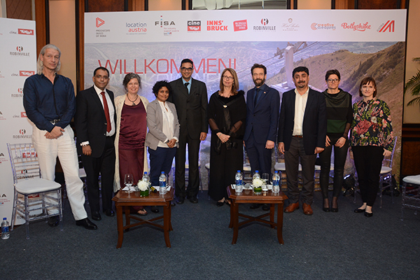 (L-R) Andreas Payer, Producer - Creative Creatures, Ishwinder Maddh, Managing Director - Robinville, Ursula Keplinger, Managing Director - Creative Creatures, Marijke Dsouza, Executive Producer - Dharma Produc