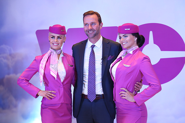 Skúli Mogensen, Chief Executive Officer and founder of WOW air at the press conference.