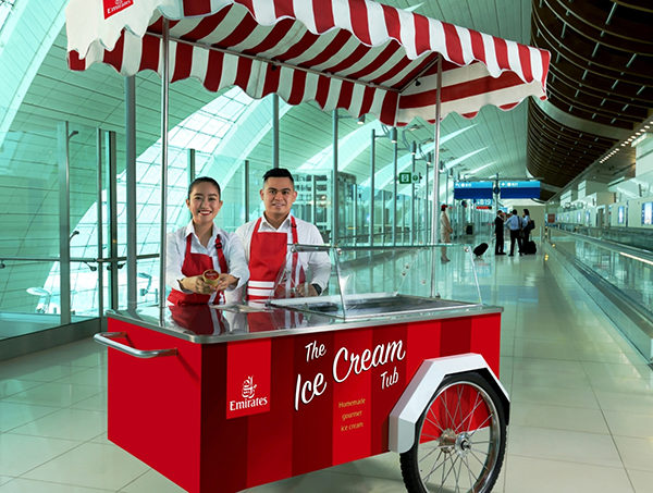 Image- Emirates complimentary ice cream service