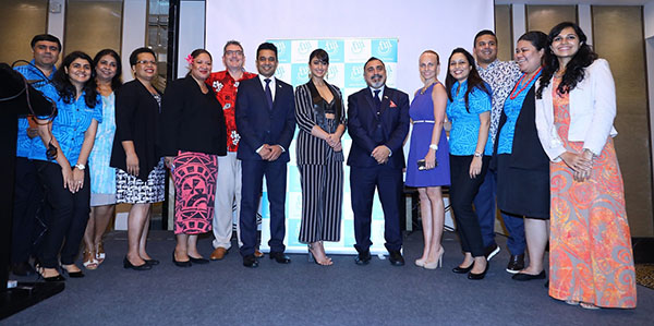 Tourism Fiji Brand Ambassador Ileana D'cruz with the High Commissioner of the Republic of Fiji, His Excellency, Yogesh Punja, Country Manager India, Seema Kadam and the Tourism Fiji partners