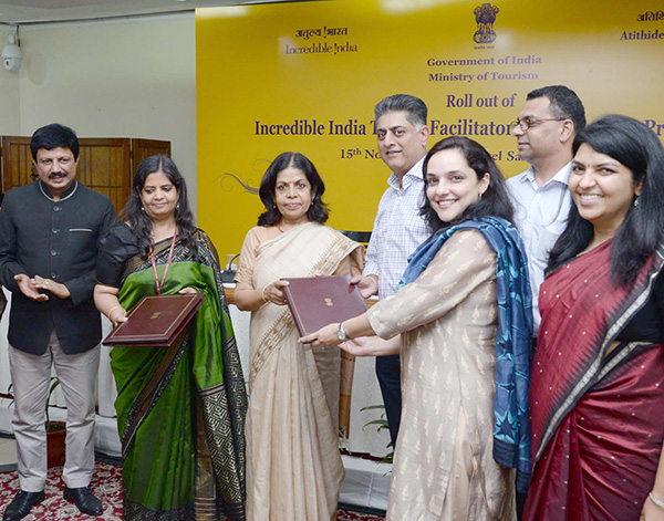 The Secretary, Ministry of Tourism, Smt. Rashmi Verma at the roll out of the Incredible India Tourist Facilitator Certification (IITFC) Programme, in New Delhi.