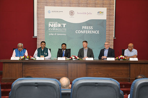 (L to R) Mr. Akshay Kumar (Chairman, AdventureNEXT committee), Mr. Jack Finifrock (Regional Director ATTA), Mr. Shannon Stowell (CEO, ATTA)