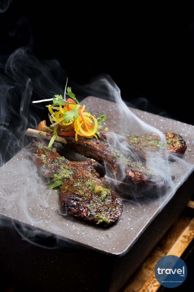 Grilled Lamb Chops with Peanut Sesame Cilantro - Zega, Sheraton Hyderabad Hotel_TravelMail