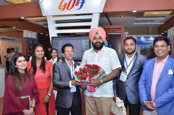 Shri Gurjeet Singh Aujla with Goa Tourism at India Travel Mart ITM 2019 Amritsar