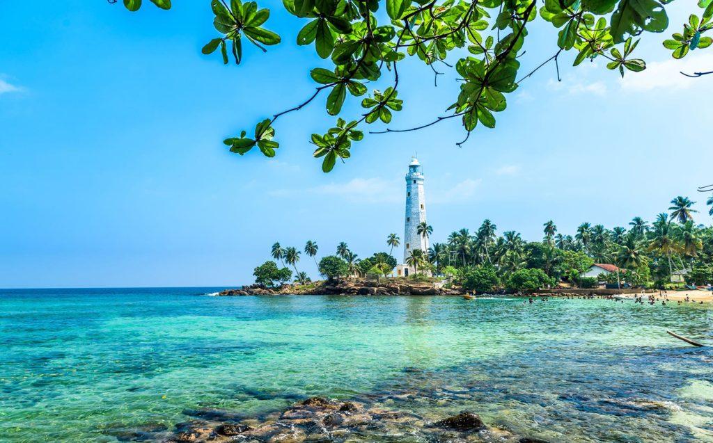 blue, sea, trees, sri lanka, beach, white house